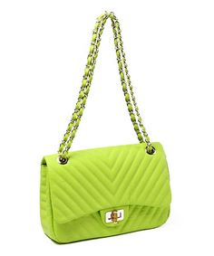 Take a look at this Lime Park Avenue Shoulder Bag by Amrita Singh on #zulily today!