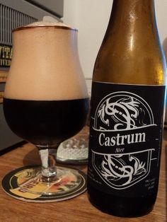 Cerveja Castrum Ater, estilo Oatmeal Stout, produzida por Cervejaria Caseira…