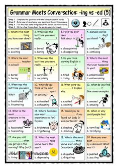 Grammar Meets Conversation: -ING vs -ED Adjectives  - Asking about Experiences and Opinions