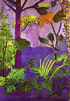 """""""paysage marocain (Acanthus)"""", Henri Matisse, 1911 ♥ Inspirations, Idées & Suggestions, JesuisauJardin.fr, Atelier de paysage Paris, Stéphane Vimond Créateur de jardins ♥"""