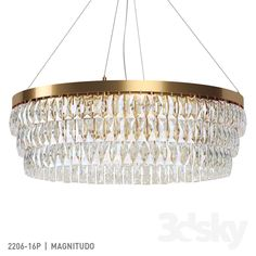 River of Goods Brielle 3 Light Silver Chandelier with