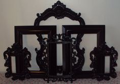 Picture Frames Black or ANY COLOR Paris Cottage by heartsncrafts, $120.00