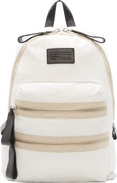 f2619e780f Marc by Marc Jacobs White Domo Arigato Packrat Backpack Black Canvas