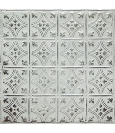 Style three white washed silver american tin ceiling backsplash