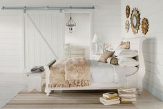 beach house feel love the white sleigh bed and comforter Ethan Allen, Vintage Bedroom Styles, Bedroom Vintage, White Sleigh Bed, Home Bedroom, Bedroom Decor, Bedroom Furniture, Master Bedroom, Bedroom Ideas