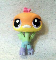 Pastel Rainbow Bird * OOAK Hand Painted Custom Littlest Pet Shop