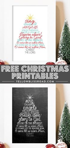 free christmas printable with the christmas carol o come all ye faithful lyrics