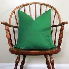 Designer Pillow in Emerald Green Size 20X20 by modernthread, $28.00
