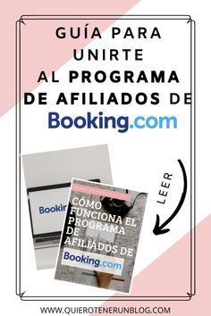 Hoy les voy a hablar de uno de mis mejores aliados al momento de monetizar mi blog de viajes; el programa de afiliados de Booking. Registrarse en el programa de afiliados de Booking es fácil, gratuito y con confirmación inmediata. Sólo tienes que unirte al programa, asociar tu página web y comenzar a promocionar las distintas opciones de hospedaje. Haz clic en la imagen para ver cómo hacerlo... #monetizar #programadeafiliados #booking #alojamientos #blogdeviajes Magazine Rack, Blog, Names For Companies, Lodges, Get Well Soon, Messages