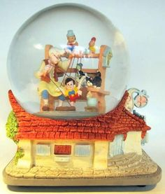 Geppetto's Toyshop musical snowglobe