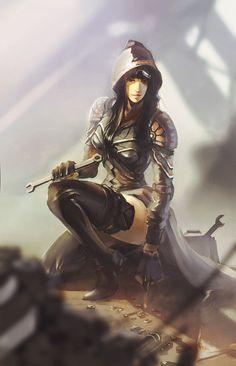 Female Fantasy Armor   women in armor #fantasy #digital art