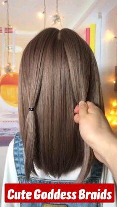 Cute Hairstyles For Medium Hair, Summer Hairstyles, Easy Hairstyles, Girl Hairstyles, Hair Up Styles, Short Hair Styles Easy, Medium Hair Styles, Silver Blonde Hair, Honey Blonde Hair