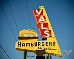 Val's Rapid Serv (St. Cloud, MN).  Vintage sign photography by Recapturist. Purchase as a print or canvas. Many sizes available. http://www.recapturist.com/portfolio/vals-rapid-serv/