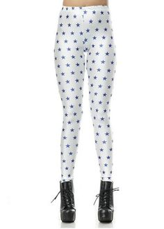 White Polyester Star Print Fall Leggings – teeteecee - fashion in style Cheap Leggings, Fall Leggings, White Leggings, Printed Leggings, Galaxy Leggings, Athletic Outfits, Athletic Clothes, Galaxy Print, Stocking Tights