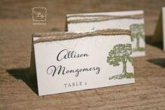 Rustic Tree Twine Wedding Place Cards Set of 50 by TigerLilyInvitations on Etsy https://www.etsy.com/listing/158161478/rustic-tree-twine-wedding-place-cards