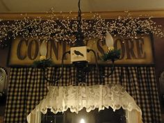 ♥ The Primitive Pantry ♥: Inside Looking Out...love the window treatment