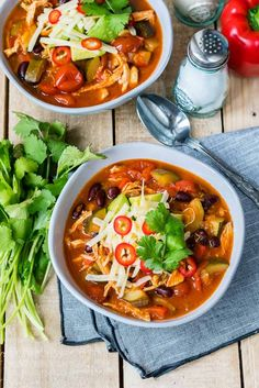 Easy 30-Minute Chicken Tortilla Soup for Clean Eating Comfort! - Clean Food Crush