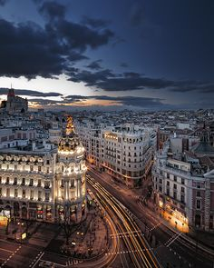 Madrid. Sunset in the City by Sergio  Sánchez // So looking forward to be there!