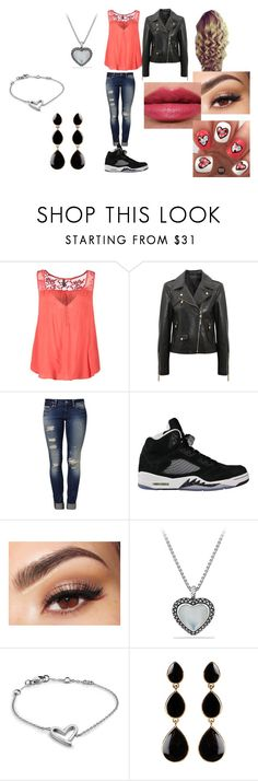 """Untitled #166"" by queen-shadow ❤ liked on Polyvore featuring Naf Naf, Versace, Mavi, NIKE, Lancôme, Tom Ford, David Yurman, Calvin Klein and Amrita Singh"