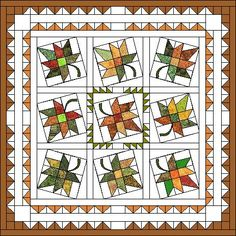 FREE Maple Leaf Quilt Pattern from QP- Beautiful! I love it!