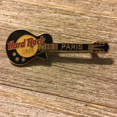 Vintage 1990's Hard Rock Cafe Pin Paris Les Paul Guitar by VioletVox on Etsy