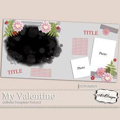 My Valentine - Album Template Vol.2 by AADesigns
