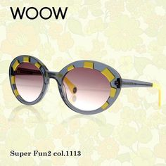 Just like exaggerated eyelashes!   Super Fun will seduce you in the blink of an eye.   Great volume, perfect shape and Sunny colours - you won't be able to resist!  __________  #WOOWeyewear