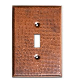 Monarch Pure Copper Hammered Single Switch Wall Plate
