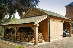 Log shed for the boy!