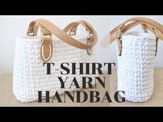 How to make a Crochet Handbag with Straps - YouTube