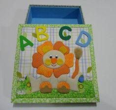 caixa em patchwork embutido