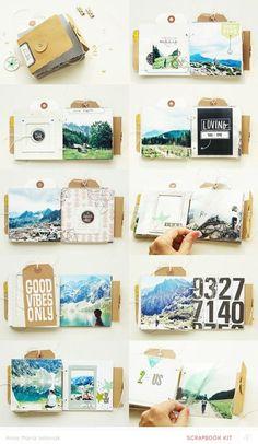 mini album. by aniamaria scrapbook photo memories travel home paper stickers love