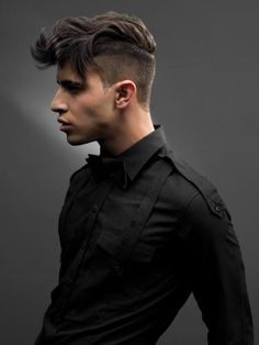 Leave it long on top, Shave the sides and back and you'll end up with this super fashion-forward look!