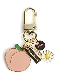 elago AirPods Keyring [PEACH] - Charm for AirPods, Handbag, Tote, Purse, Backpack, Bag, Car Key, Durable Keychain, Sturdy material, Cute Accessories for Women Accessorize: Add something cute to your AirPods and give it your own flair with a limited edition elago keyring! Durable: Made with quality materials to make sure it lasts. Perfect Gift: The keyring is a perfect gift! Though it was intended for AirPods, it can be used with any keychain as an accessory. WARRANTY: Purchase with… Diy Keyring, Cute Keychain, Louis Vuitton Keychain, Keychain Design, Tassel Bracelet, Resin Charms, Cute Jewelry, Key Rings, Peach