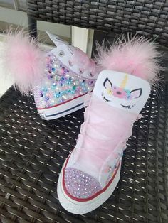 Unicorn Converse w/Puff Ball