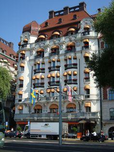 A hotel on Strandvägen, the finest address in Stockholm, Sweden