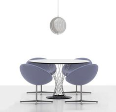Contemporary armchair / fabric / swivel / by Verner Panton - C1  - vitra