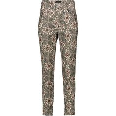 Isabel Marant Mayeul printed cotton blend corduroy skinny pants ($430) ❤ liked on Polyvore featuring pants, high waisted pants, high waisted skinny pants, high-waisted pants, skinny corduroy pants and colorful pants