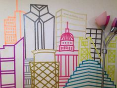 I created this wall art of the Sacramento skyline using Washi tape. If you've never heard of washi tape, beware, it is more addictive than crack.  It's a slightly sticky tape, easy to tear and com...