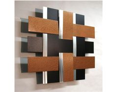 Modern Metal Wall Art - Contemporary Metal Wall Art - Abstract Metal Wall Art - Stainless Steel Sculpture 14s Copper Black