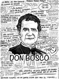 Don Bosco - Agustin de la Torre Zarazaga. Dibujos y diseño gráfico Santa Rita De Cascia, Dom Bosco, Religion Catolica, Don Juan, Catechism, Virgin Mary, Makeup Art, Catholic, Saints