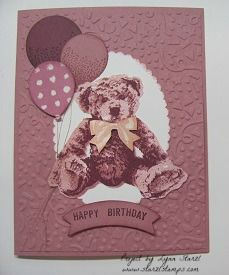 Baby Bear Birthday card by starzlmom28 - Cards and Paper Crafts at Splitcoaststampers