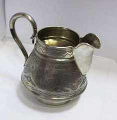 SAHNEGIESSER Sugar Bowl, Bowl Set, Bronze, Antiques, Gold Paint, Antiquities, Antique, Old Stuff