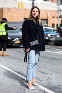Street style from New York Fashion Week autumn/winter '17/'18: Sabrina Meijer from intoIT magazine.