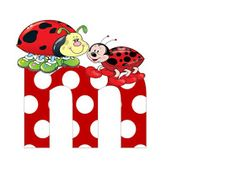 S.T.R.U.M.F.: Litere mari si cifre buburuze Ladybug Picnic, Alphabet, Smurfs, Collage, Symbols, Disney, Ladybugs, Reptiles, Fictional Characters