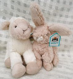 Bunny Rabbit & Lamb by JellyCat. http://magpies-gifts.co.uk/jellycat.html