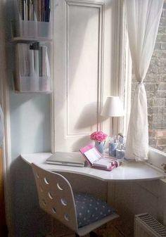 Criar um pequeno escritório em casa, muito inspirador e agradável