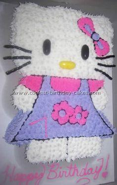 Hello Kitty Birthday Cake... This Mom did a Wonderful Job!