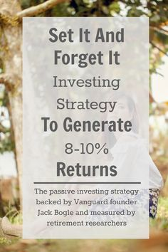 Understand passive index fund investing, the strategy backed by Jack Bogle of Vanguard and which has historically yielded 8-10% annual returns.