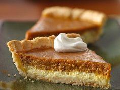 #GlutenFree Cream Cheese Pumpkin Pie -- layers of tasty goodness!